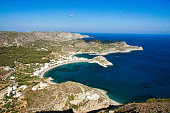 Kapsali bay and village from above. Greek island of Kythera
