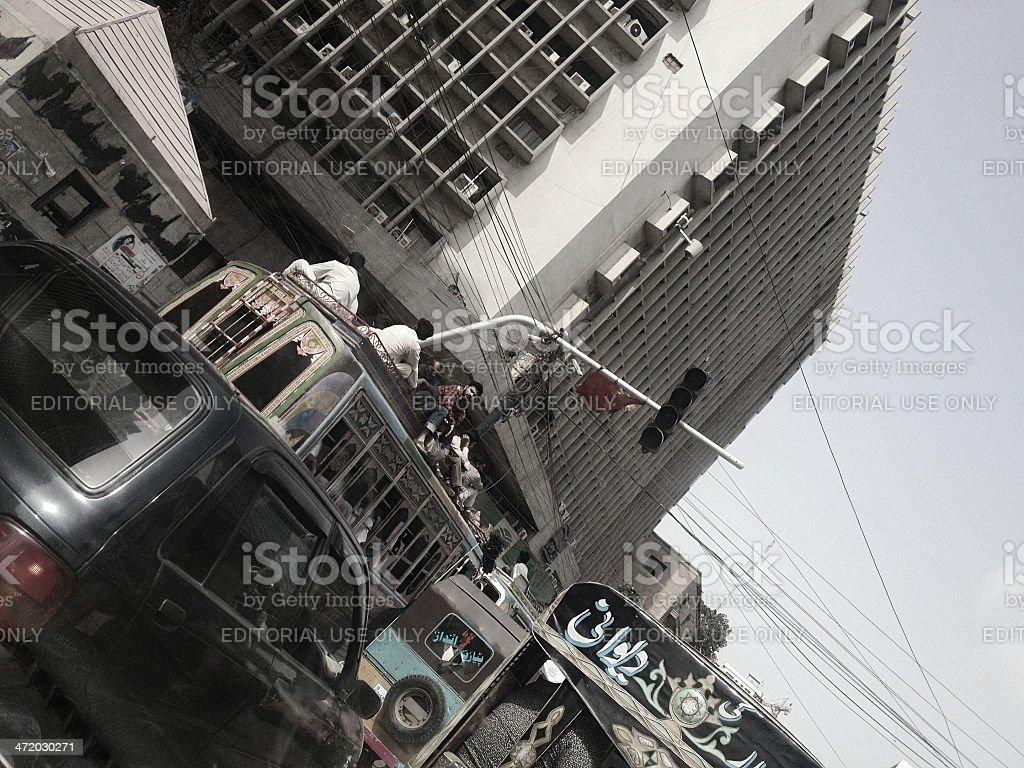 Karachi Public Transport Crises stock photo