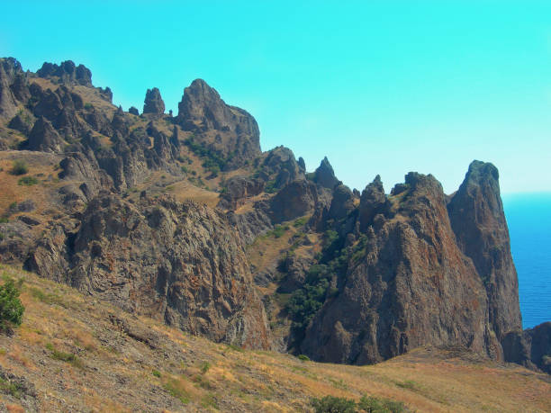 Montanha Karadag na Criméia - foto de acervo