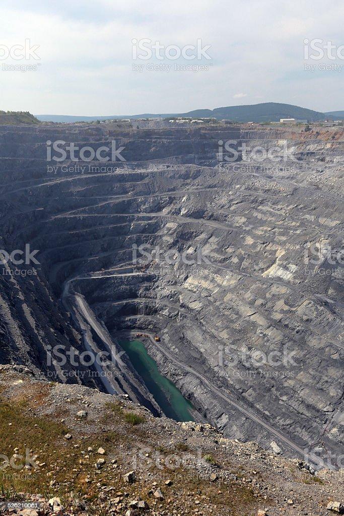 Karagaysky careers. pit mining stock photo