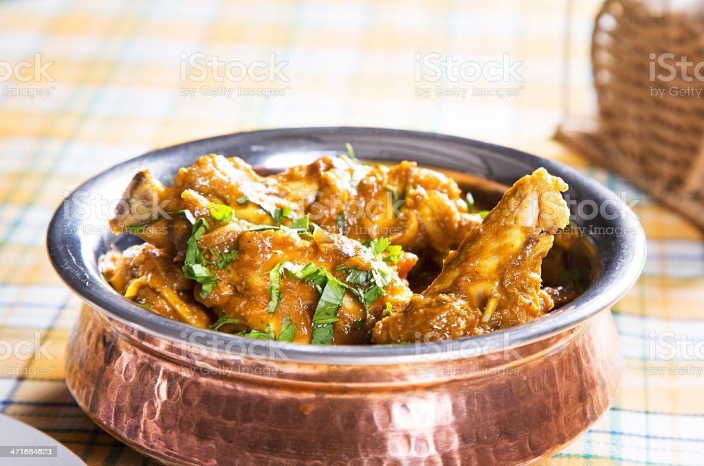 Karahi Chicken royalty-free stock photo