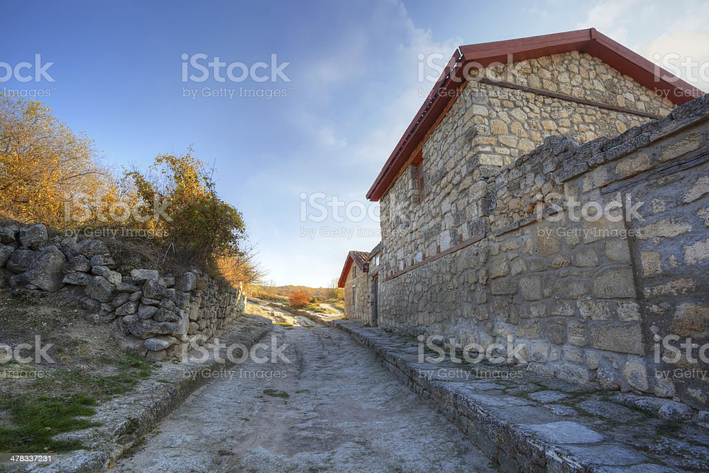 Karaite houses, built in the 14 century royalty-free stock photo