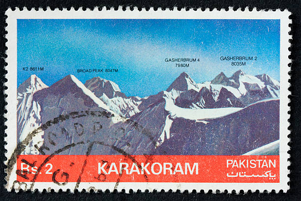 karakoram mountain range stock photo