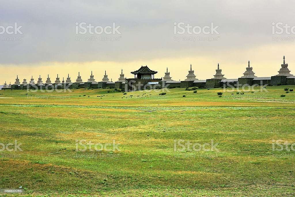 Karakorum city walls, old capital of mongolia stock photo