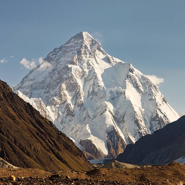 K2, Karakorum Mountains, Pakistan stock photo