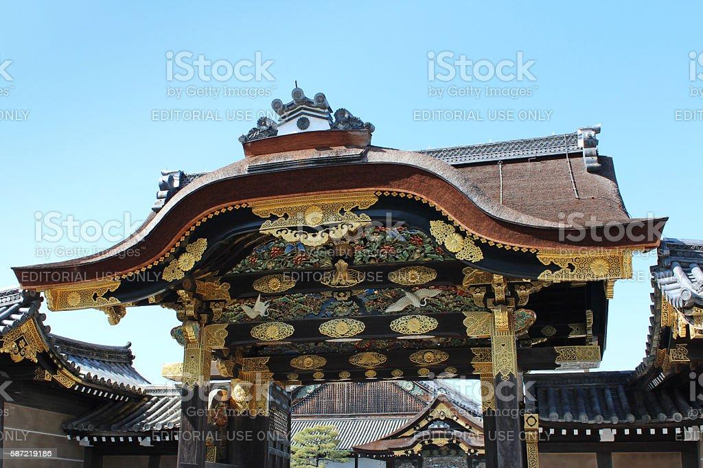 karamon main gate of Nijo Castle in Kyoto royalty-free stock photo