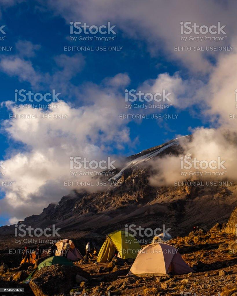 Karanga Camp stock photo