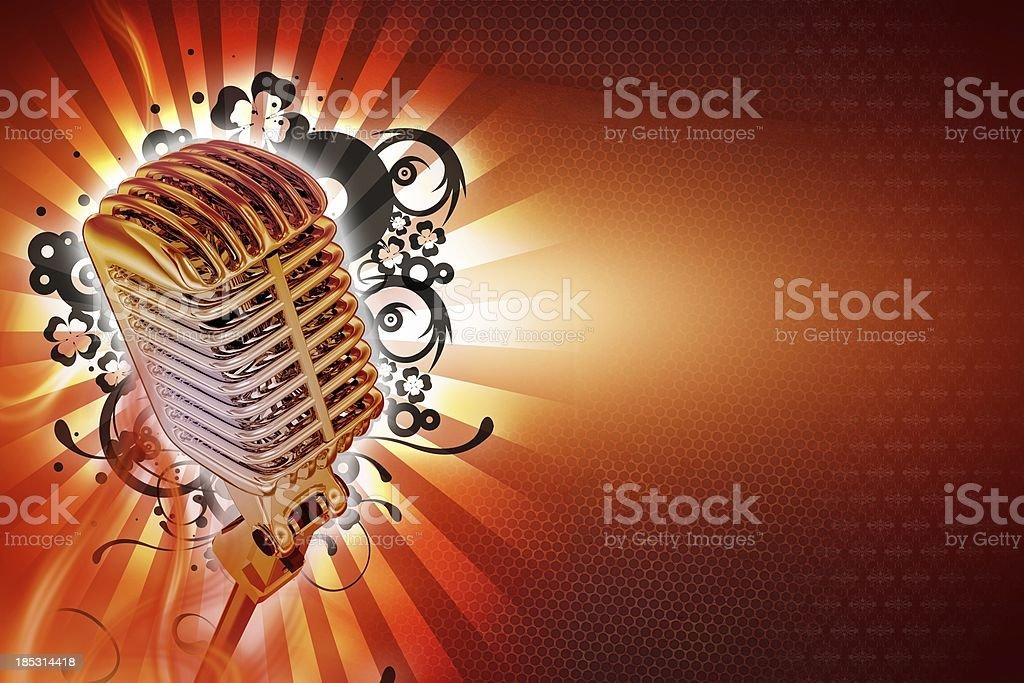 Karaoke Background royalty-free stock photo