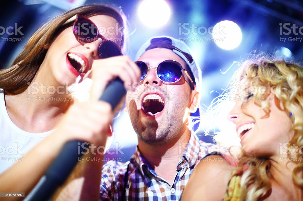 Karaoke competition. stock photo