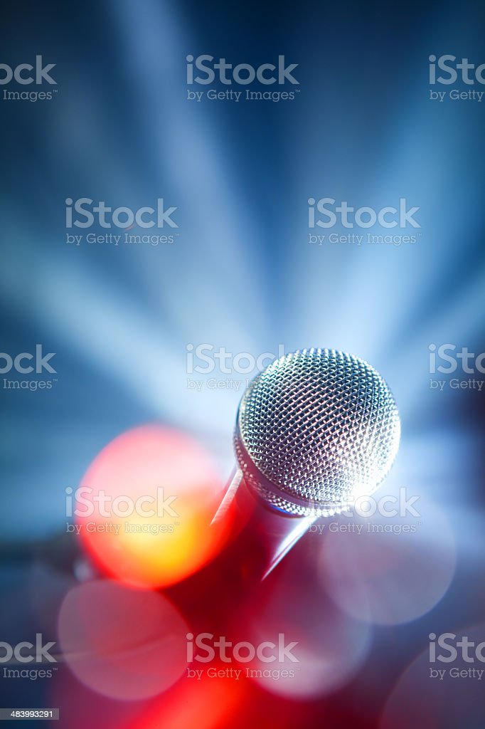 karaoke microphone stock photo