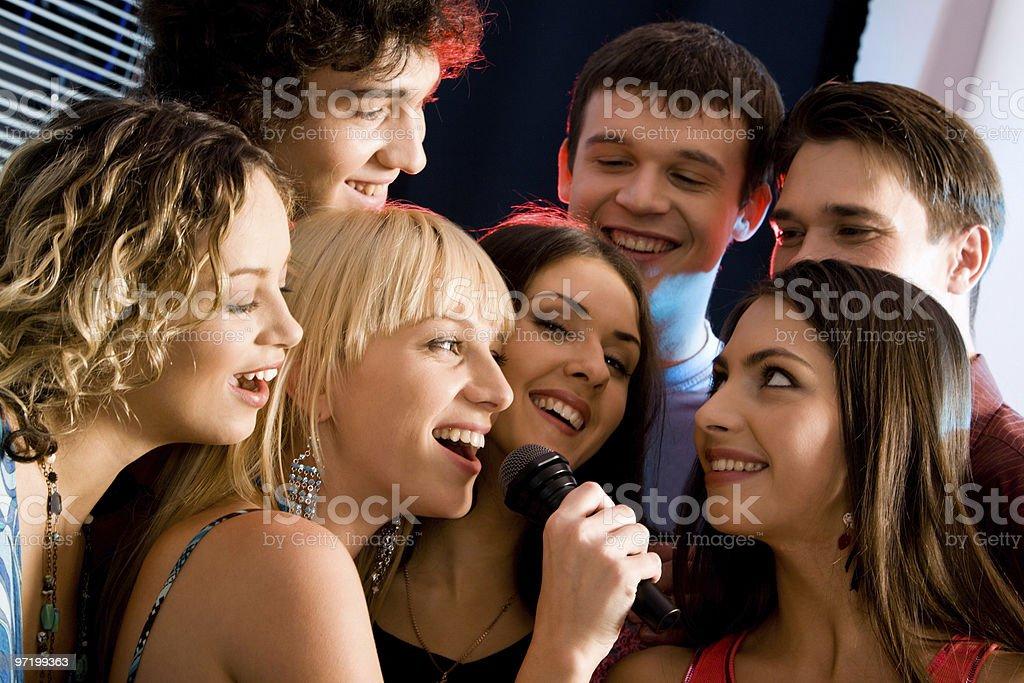 Karaoke party royalty-free stock photo