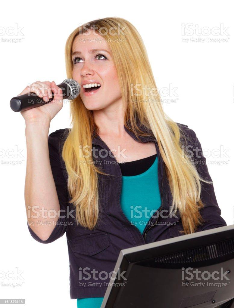Karaoke Singer royalty-free stock photo