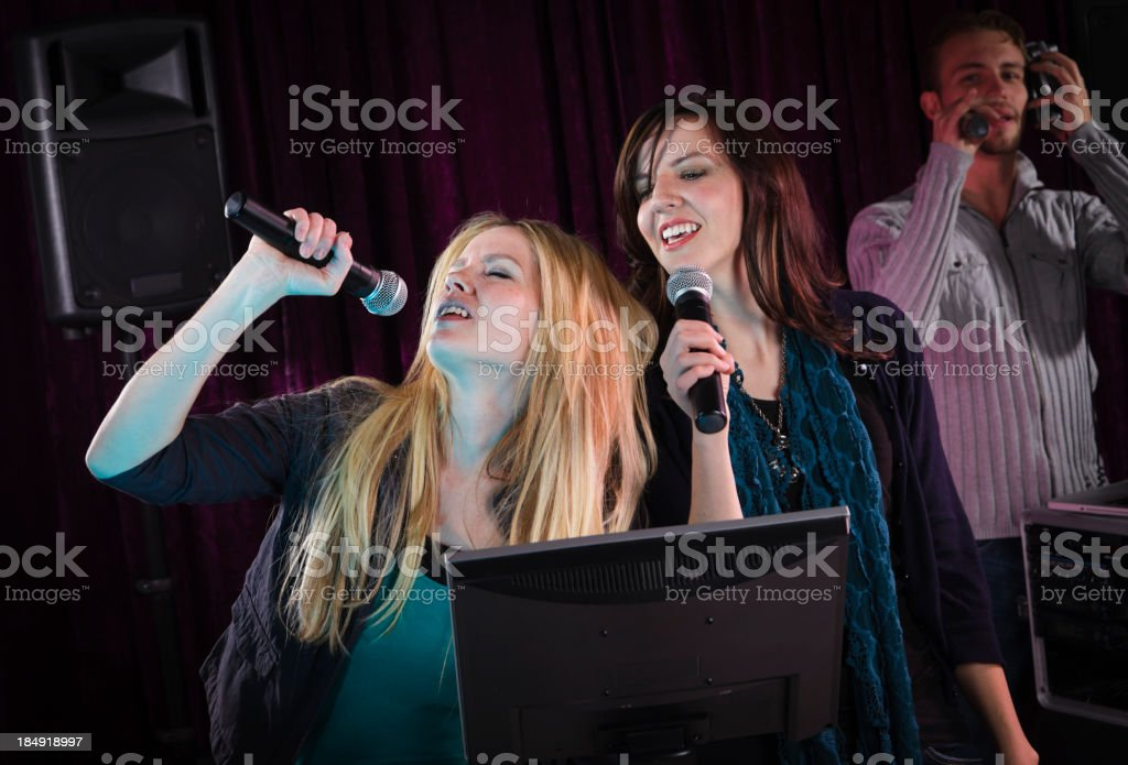 Karaoke Singers stock photo