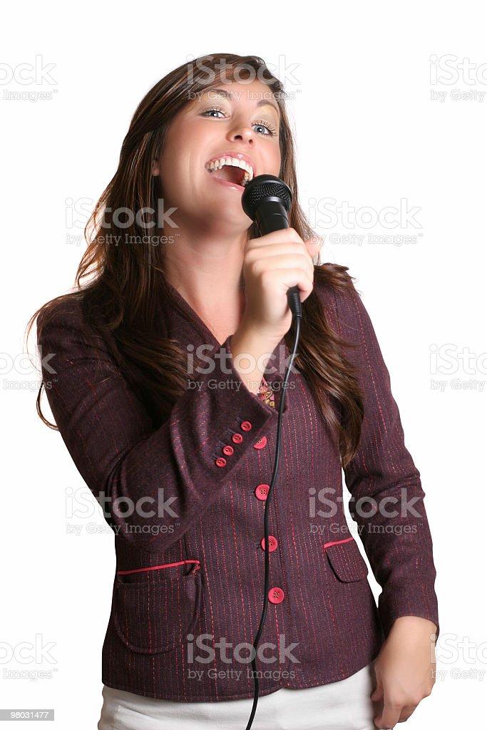 Karaoke singing royalty-free stock photo