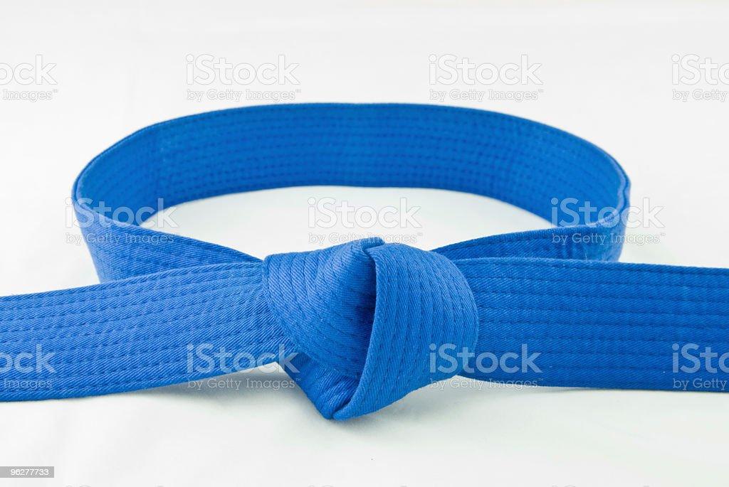 Karate Belt  Blue stock photo