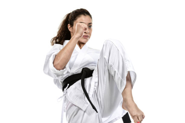 karate determination - martial arts gerville stock photos and pictures