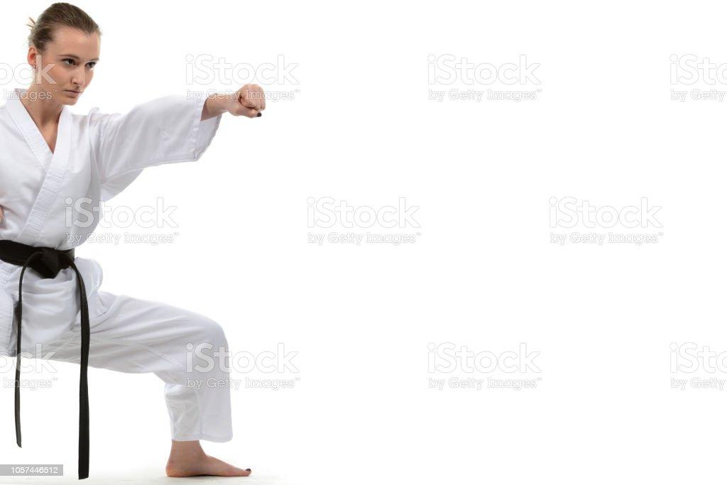 Karate Effort stock photo