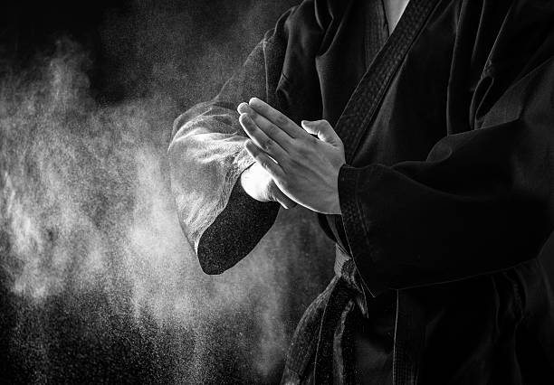 karate fighter hands. - karate stock photos and pictures