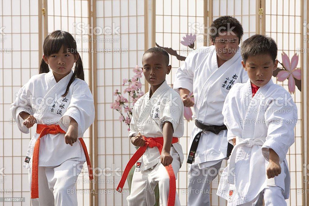 Karate Form stock photo