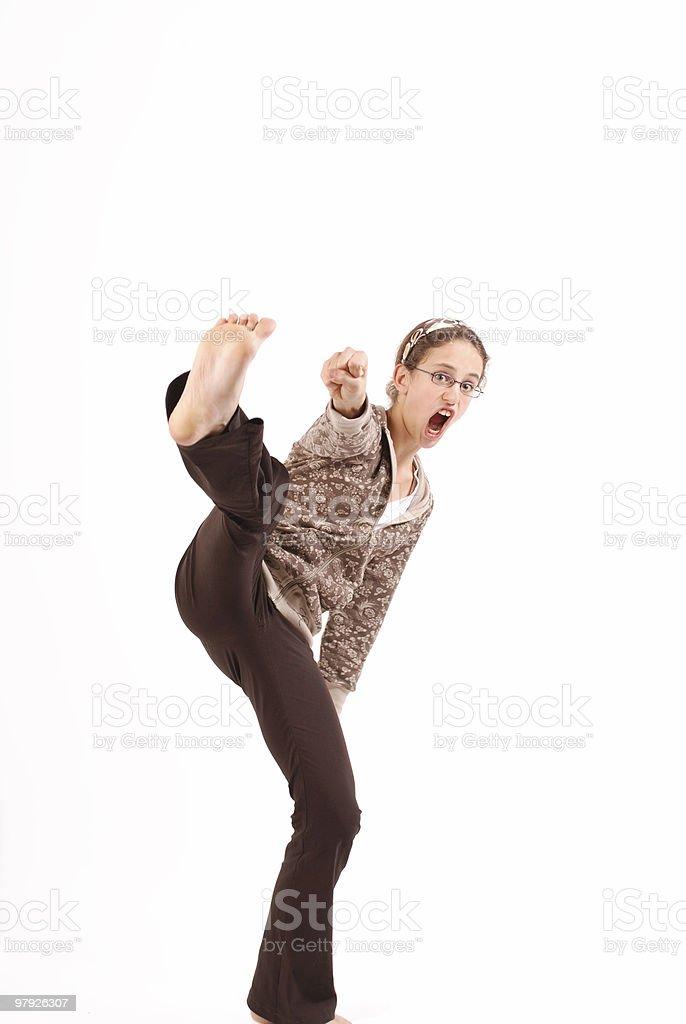 Karate girl 2 royalty-free stock photo
