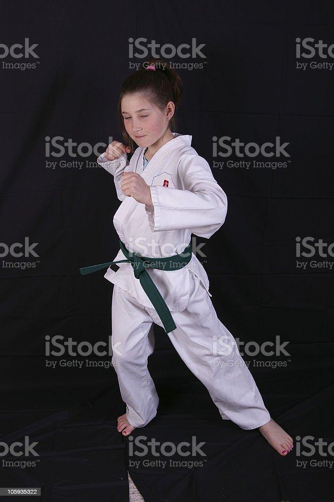 Karate Girl - Royalty-free Adult Stock Photo