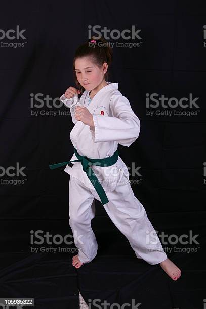 Karate Girl Stock Photo - Download Image Now