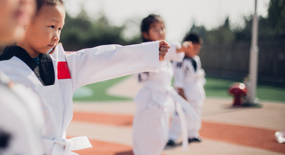 Karate In Our Kindergarten Stock Photo - Download Image Now - iStock
