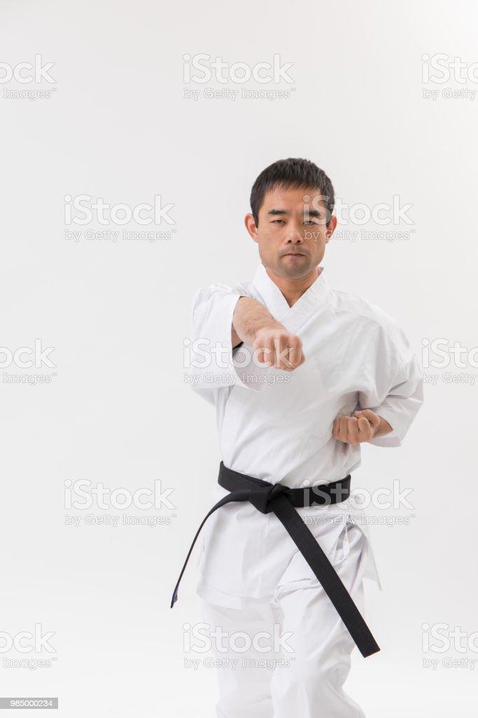 空手柔道画像 ストックフォト
