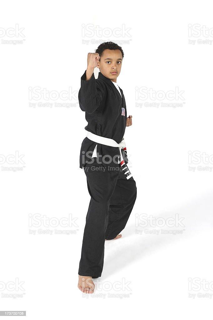 Karate Kid stock photo