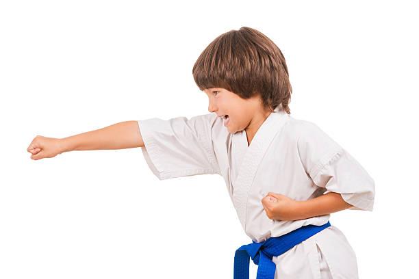 Karate kid. stock photo