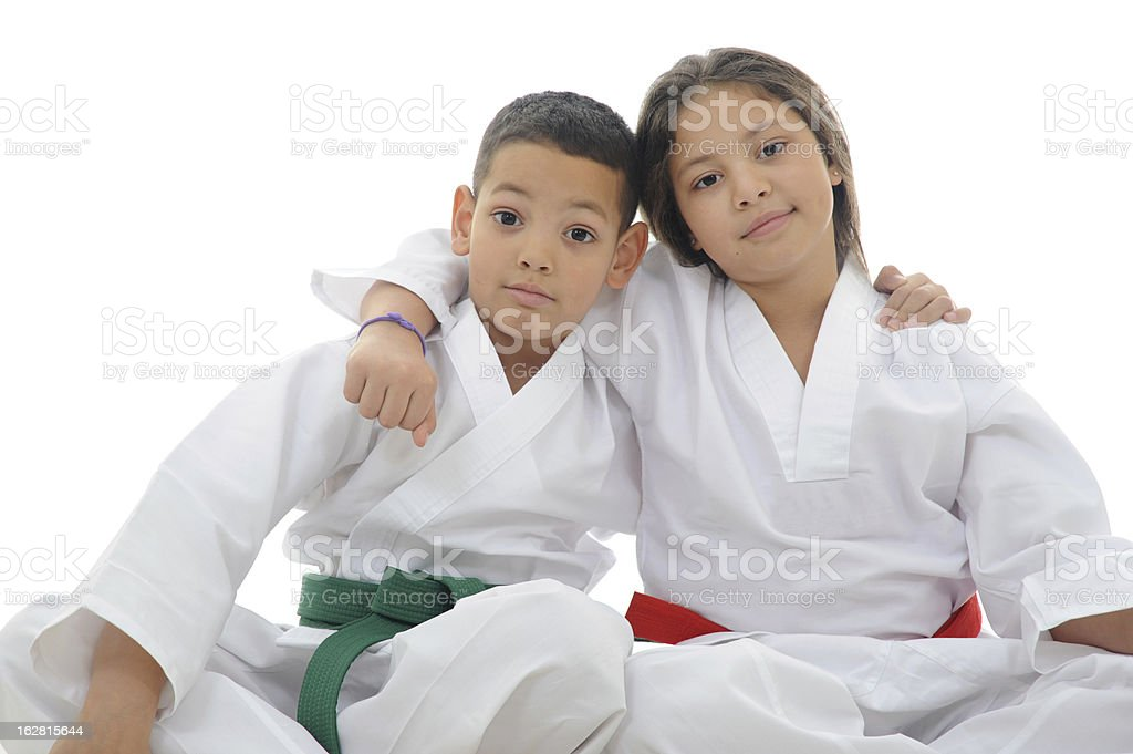 Karate Kids stock photo