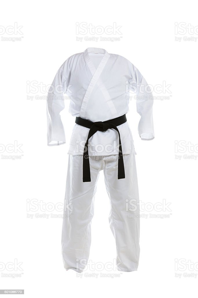 Karate Uniform stock photo