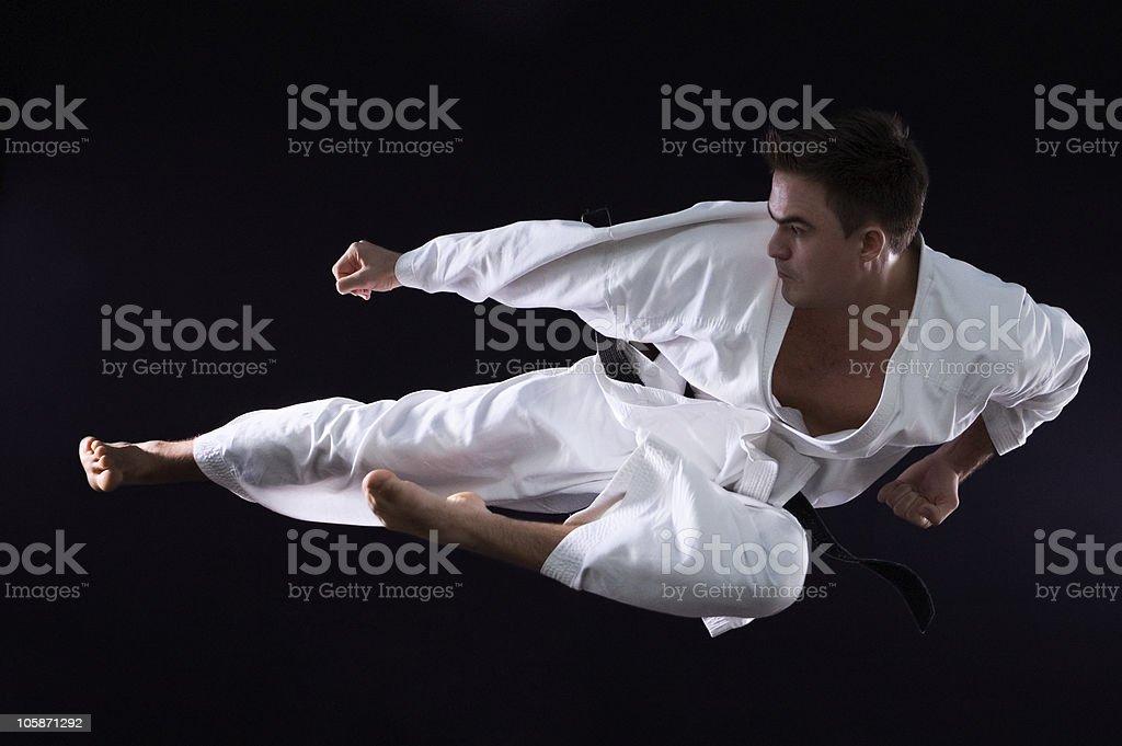 karateka man royalty-free stock photo