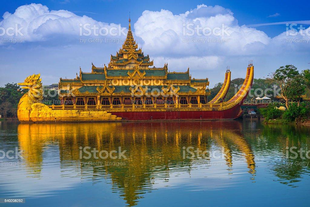Karaweik palace Yangon Myanmar stock photo