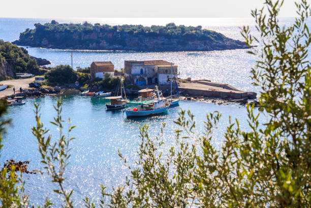 Kardamyli village in Messenia, Peloponnese stock photo