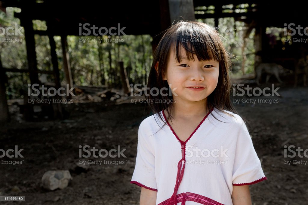 Karen Girl In Traditional Dress royalty-free stock photo