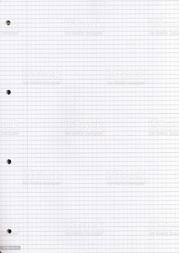 kariertes Blatt Papier stock photo