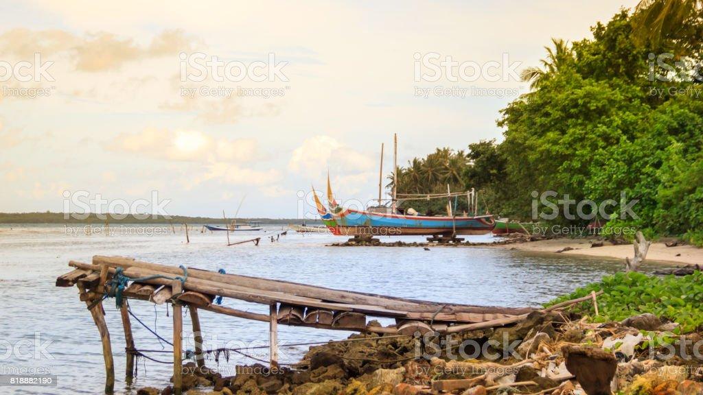 Karimunjawa Indonesien Java Strand Küste Felsen - Lizenzfrei Bali Stock-Foto