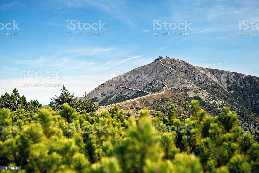 Karkonosze Mountain Range landscape stock photo