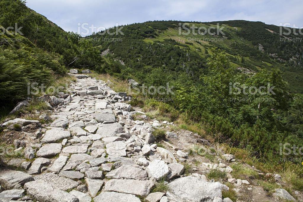 Karkonosze (Giant) mountains in Poland stock photo
