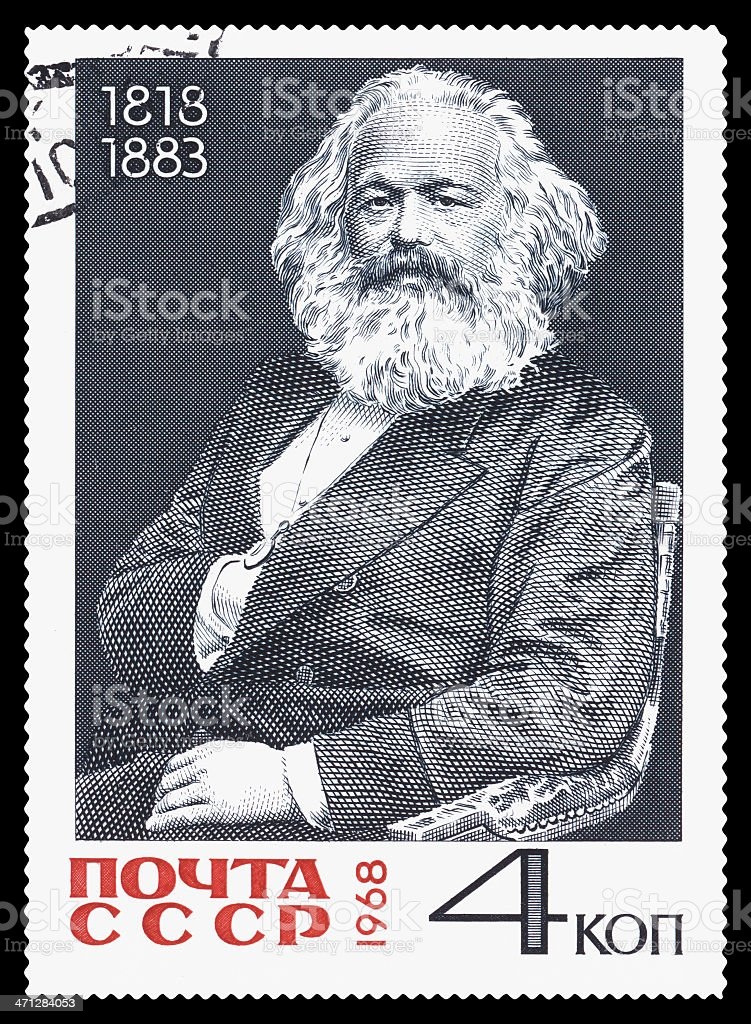 Karl Heinrich Marx postage stamp royalty-free stock photo