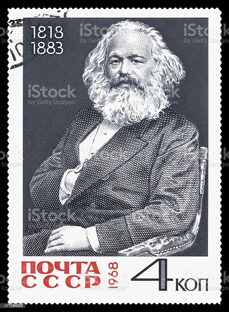 Karl Heinrich Marx postage stamp stock photo