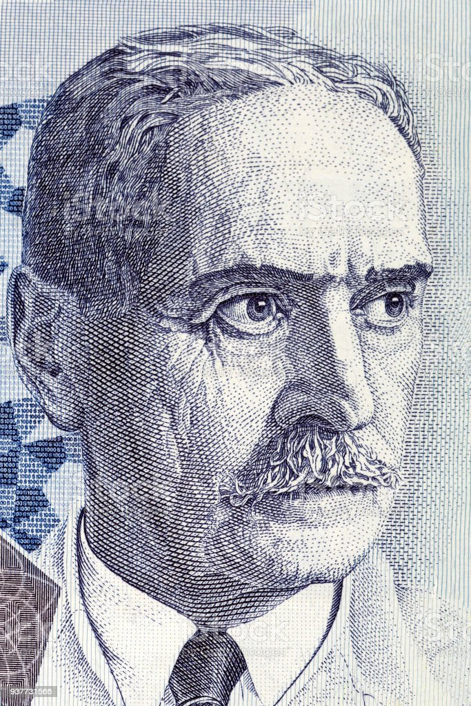 Karl Landsteiner portrait stock photo
