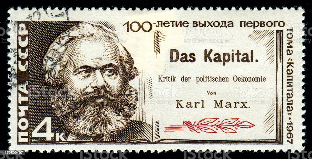 Karl Marx and Capital stock photo