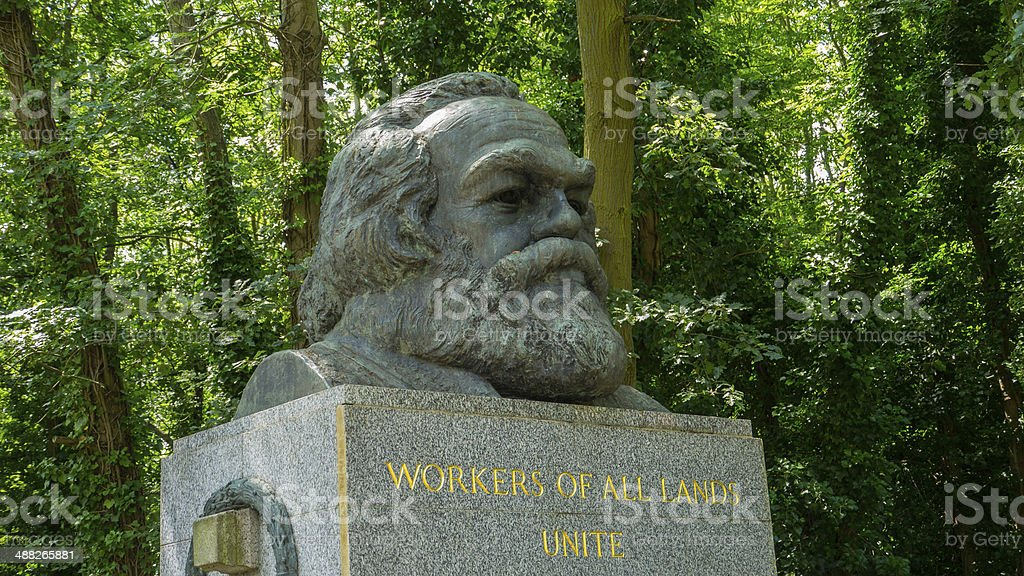 Karl Marx Grave in Highgate Cemetary, London stock photo