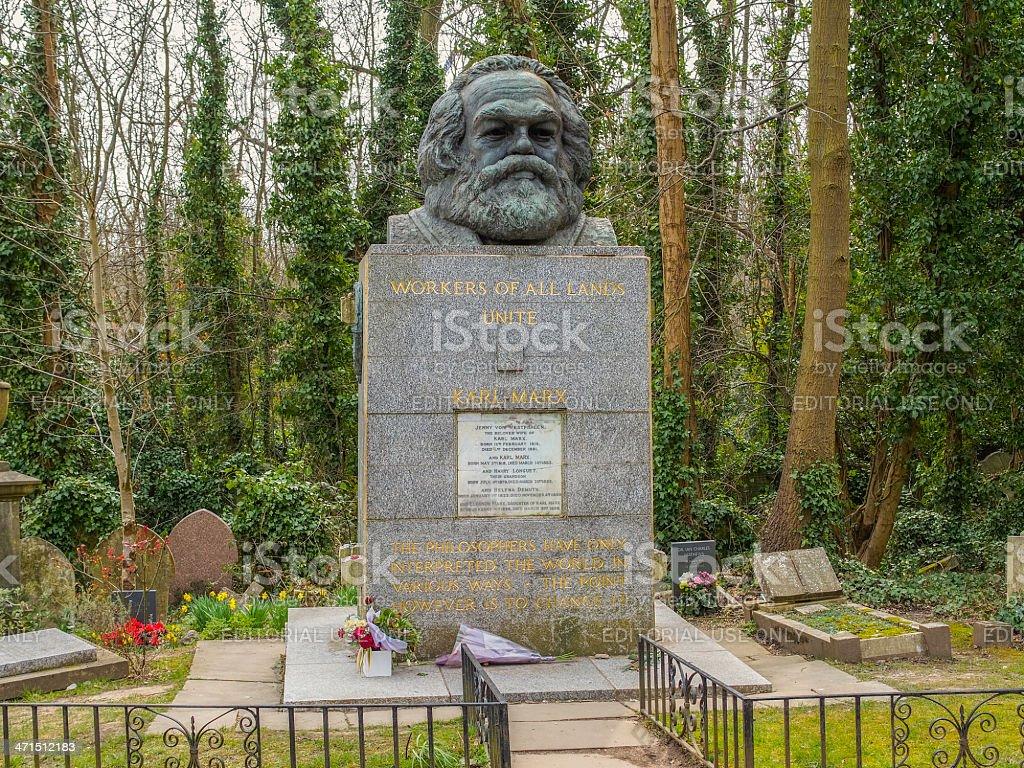 Karl Marx grave in London stock photo
