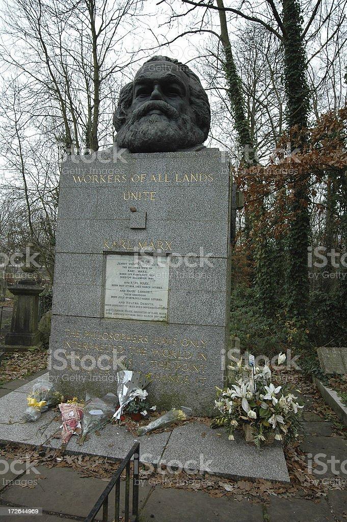 Karl Marx grave stock photo