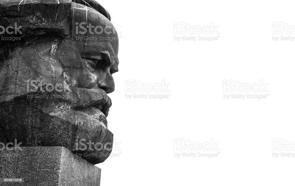 Karl Marx Monument - Chemnitz, Saxony, Germany. Karl Marx Monument in Chemnitz - Saxony, Germany Architecture Stock Photo