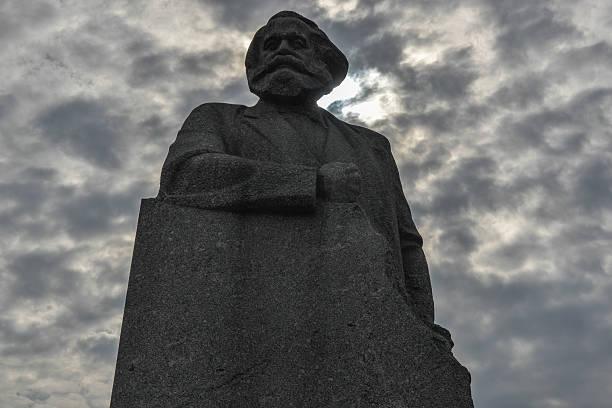 Karl Marx Monument, Moscow stock photo