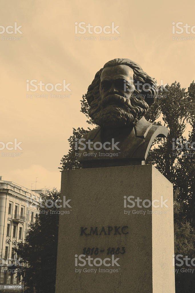 Karl Marx - statue stock photo